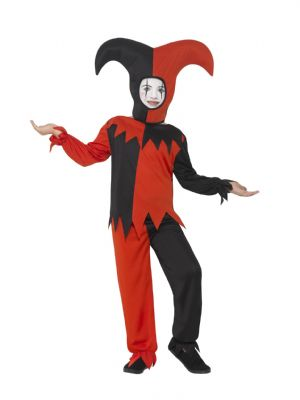 Boy's Fancy Dress | Scary Twisted Jester Costume